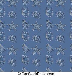 seamless pattern sea shells