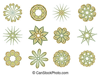 floral and ornamental elements