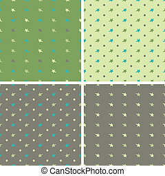 vector illustration set of backgrounds with stars