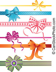bows - Vector illustration - set of bows