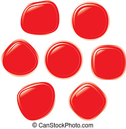 Vector illustration set of button