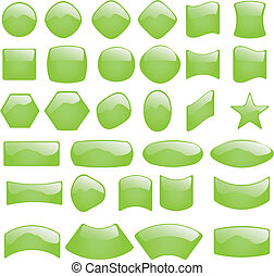 Vector illustration set of button