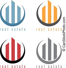 vector illustration set of commercial real estate