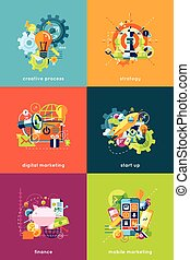 Vector illustration set of concepts