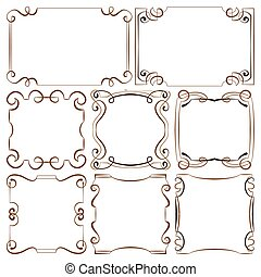 vector illustration. set of decorative frameworks
