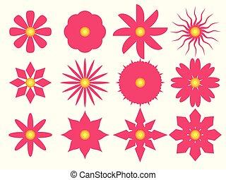 vector illustration Set of Flowers