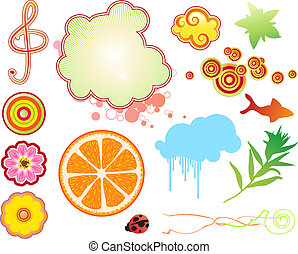 funky summer design elements