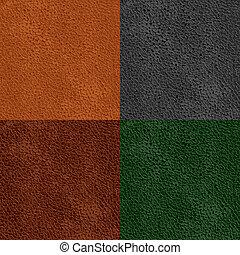 leather seamless pattern - Vector illustration - set of ...