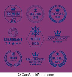 Vector illustration set of logos