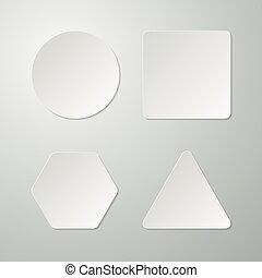 Vector illustration set of paper figures