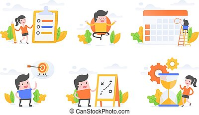 productivity - Vector illustration set of productivity, ...