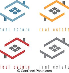 vector illustration set of residential real estate