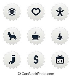 Vector Illustration Set Of Simple Brood Icons. Elements...