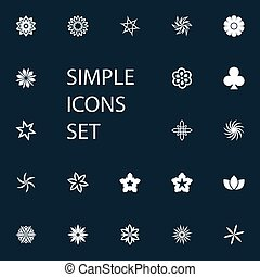 Vector Illustration Set Of Simple Icons. Elements Flower,...