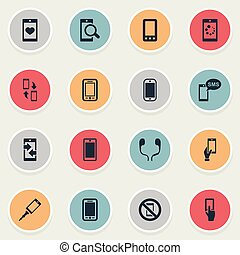 Vector Illustration Set Of Simple Icons. Elements Outgoing...