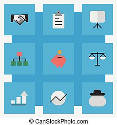 Vector illustration set of simple career icons elements vectors vector illustration set of simple job icons elements agreement diagram growing and other platinumwayz