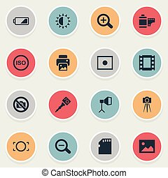 Vector Illustration Set Of Simple Photographic Icons. ...