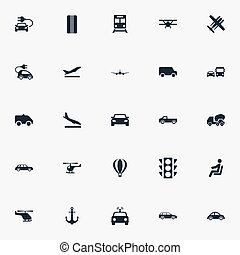 Vector Illustration Set Of Simple Shipment Icons. Elements ...