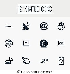Vector Illustration Set Of Simple Web Icons. Elements...