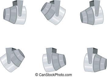 Vector illustration set of spotlights