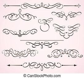 decorative floral elements