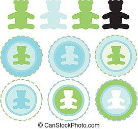 teddy bear badges