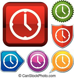 Set shiny icon series on buttons. Clock.
