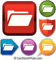 Set shiny icon series on buttons. File binder.