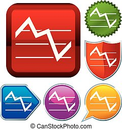 Set shiny icon series on buttons. Stock chart.