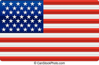 Shiny usa flag. Soft color degradations in bars and stars.
