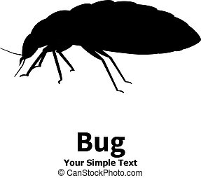 Vector illustration silhouette bed bug