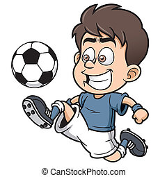Soccer player - Vector illustration Soccer player