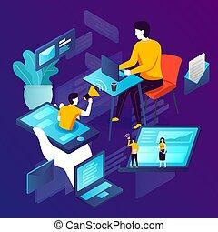Vector illustration - social network advertisement