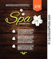 Vector illustration. Spa Resort or Beauty Business...