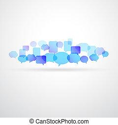 Speech bubble network background