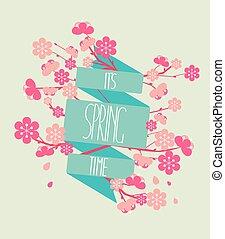 Vector illustration - spring season.
