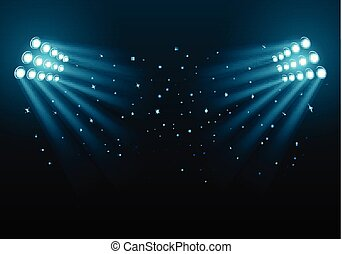 Stadium lights on a dark background