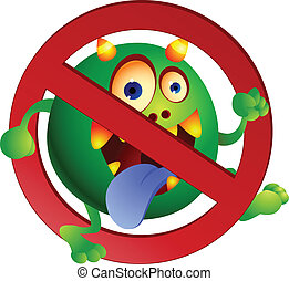 Stop virus - Vector illustration Stop virus sign