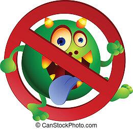 Stop virus - Vector illustration Stop virus sign