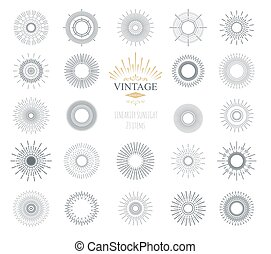 Vector illustration sunburst.