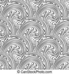 Vector illustration swirl seamless background