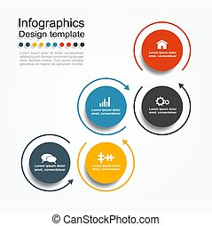 vector, illustration., text., infographic, ontwerp, mal, plek, jouw