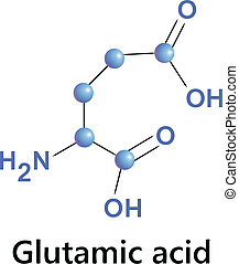 glutamic acid - Vector illustration, the chemical formula of...