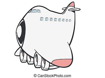 Vector illustration the plane