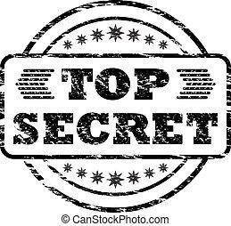 Top Secret damaged stamp