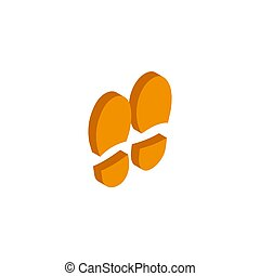 Vector illustration trail of shoe print. Step by step sign icon. Footprint shoes symbol. eps