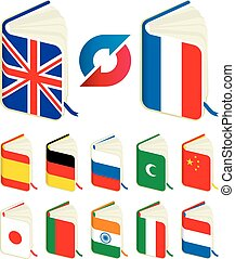 Translate - Vector illustration. Translate book icons. ...