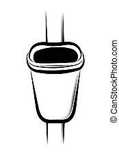 Trash can - Vector illustration - Trash can on a white ...