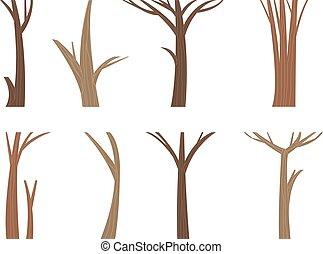 Vector illustration tree trunk. - Illustration tree trunk...