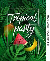 illustration tropical party